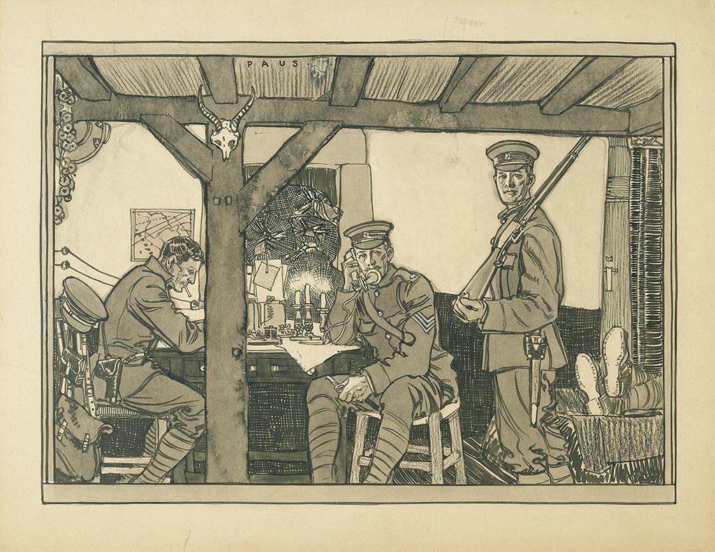 HERBERT PAUS. World War I soldiers.