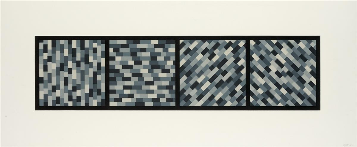 SOL-LEWITT-Broken-Gray-Bands-in-Four-Directions