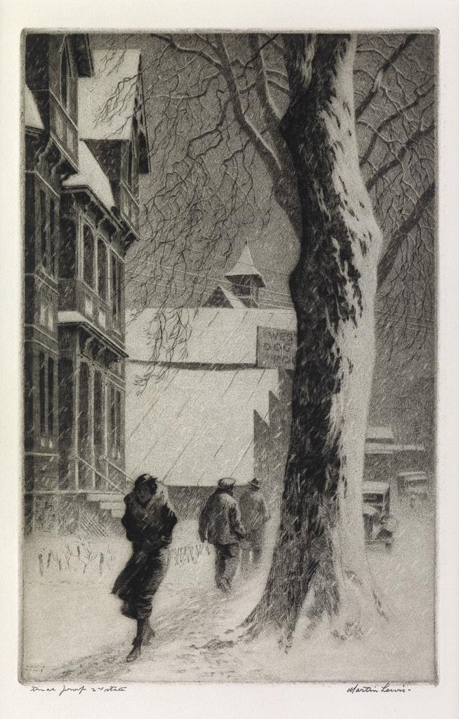 MARTIN-LEWIS-Winter-on-White-Street