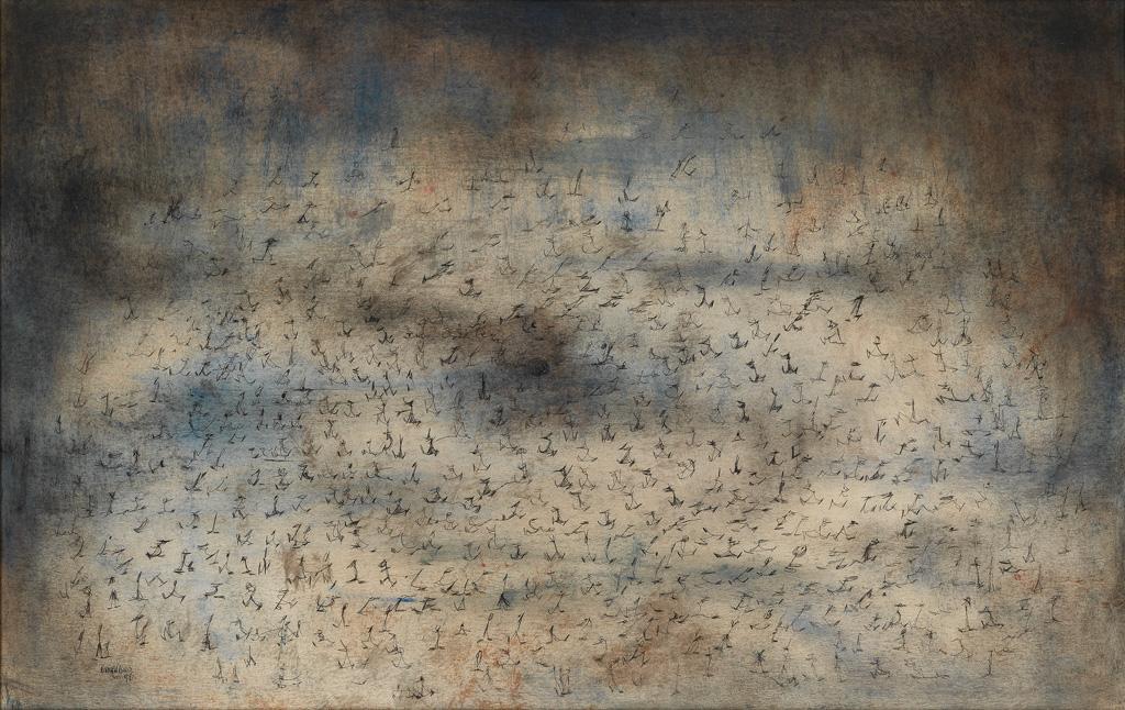 NORMAN-LEWIS-(1909---1979)-Untitled-(Processional-Figure-Com