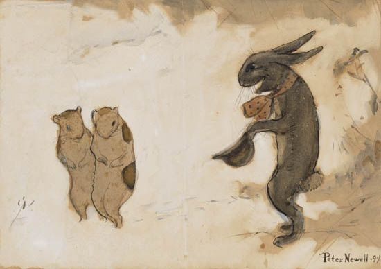 PETER NEWELL. Rabbit Tipping His Hat.