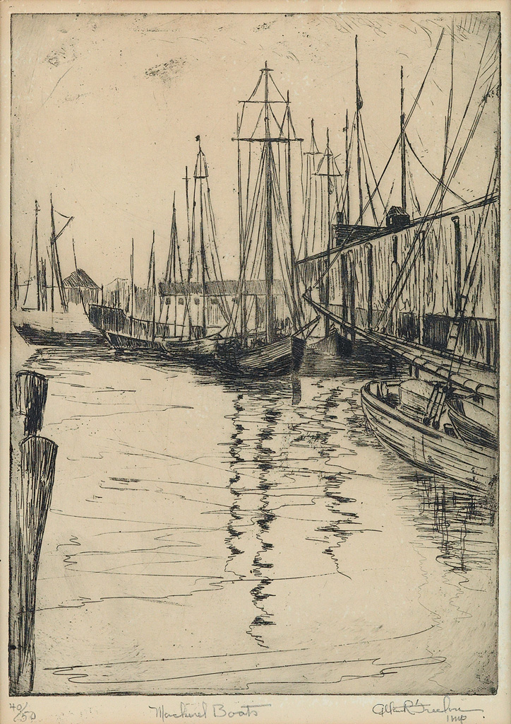 ALLAN-FREELON-(1895---1960)-Mackerel-Boats