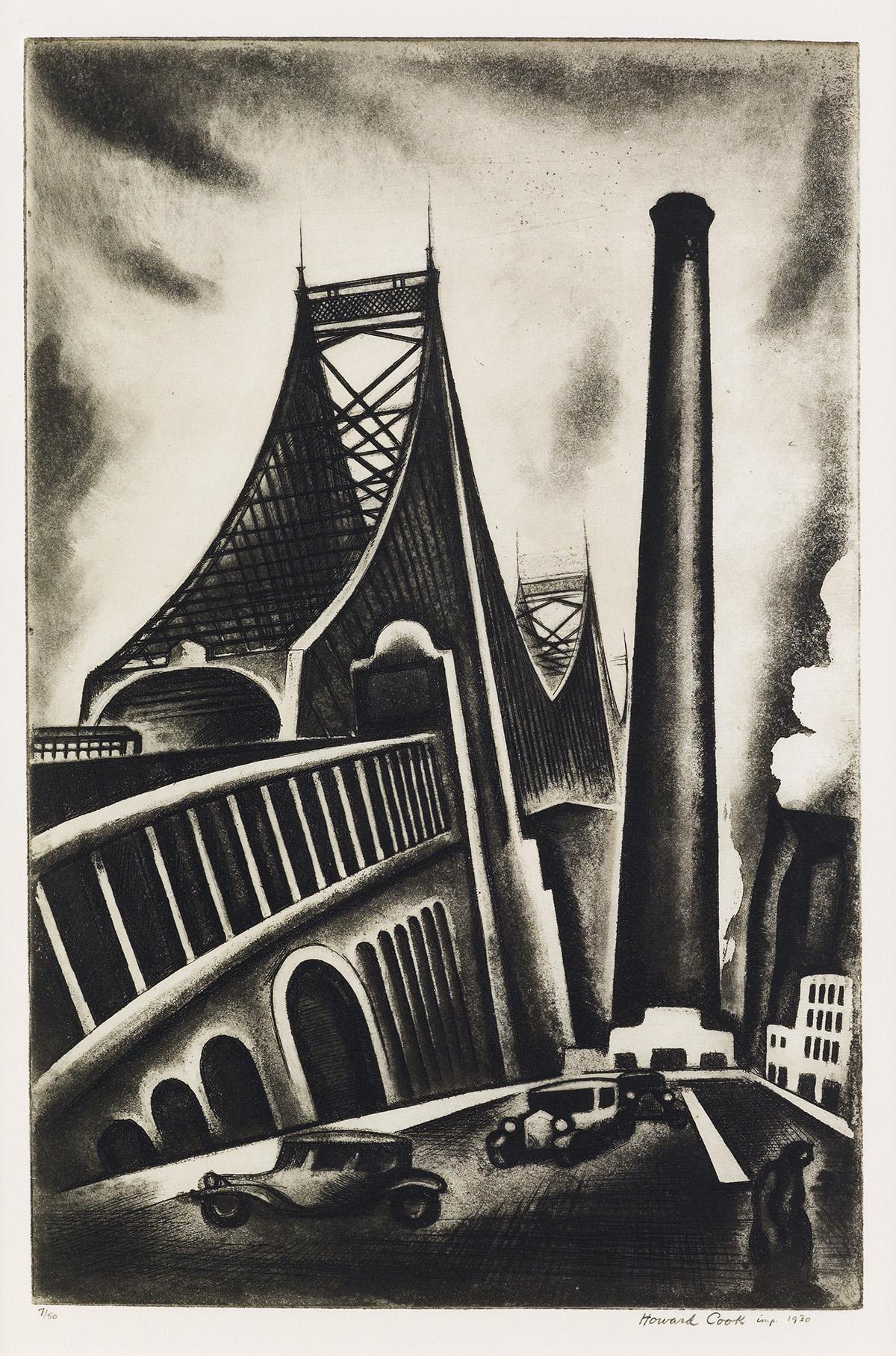 HOWARD-COOK-Queensboro-Bridge