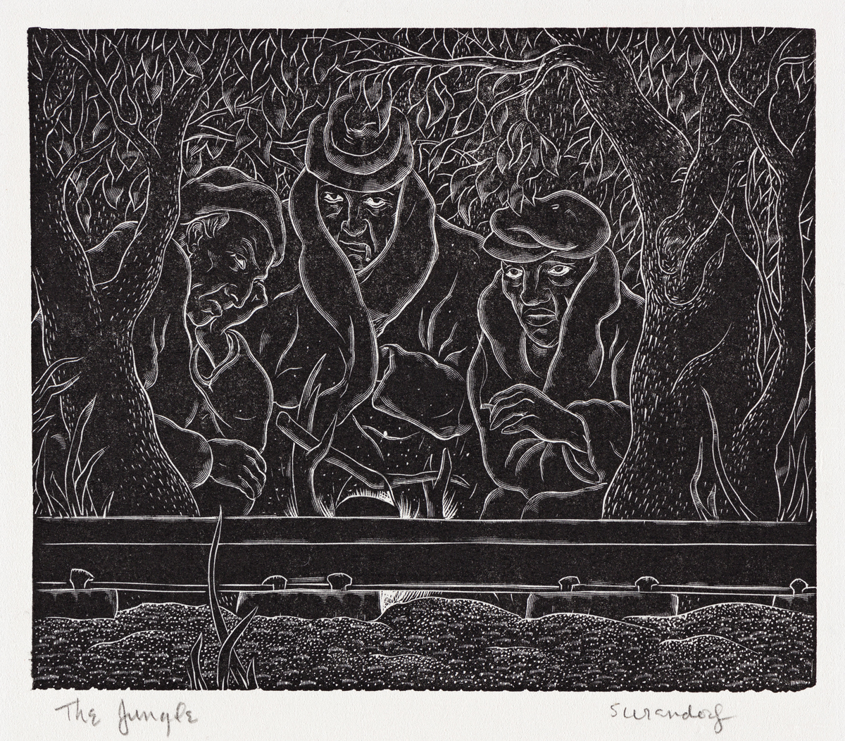 CHARLES SURENDORF (1906-1979) The Jungle.