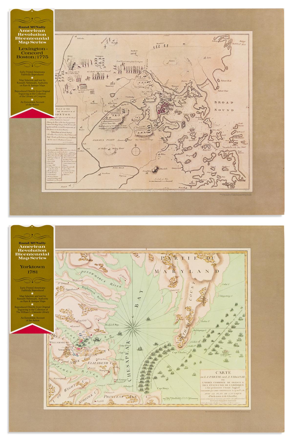 RAND, MCNALLY, & CO.; and KEN NEBENZAHL. American Revolution Bicentennial Map Series.
