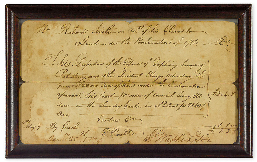 WASHINGTON, GEORGE. Document Signed, G:Washington, with holograph date and endorsement Signature on verso,