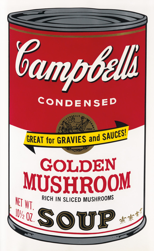 ANDY WARHOL Campbells Soup II: Golden Mushroom.