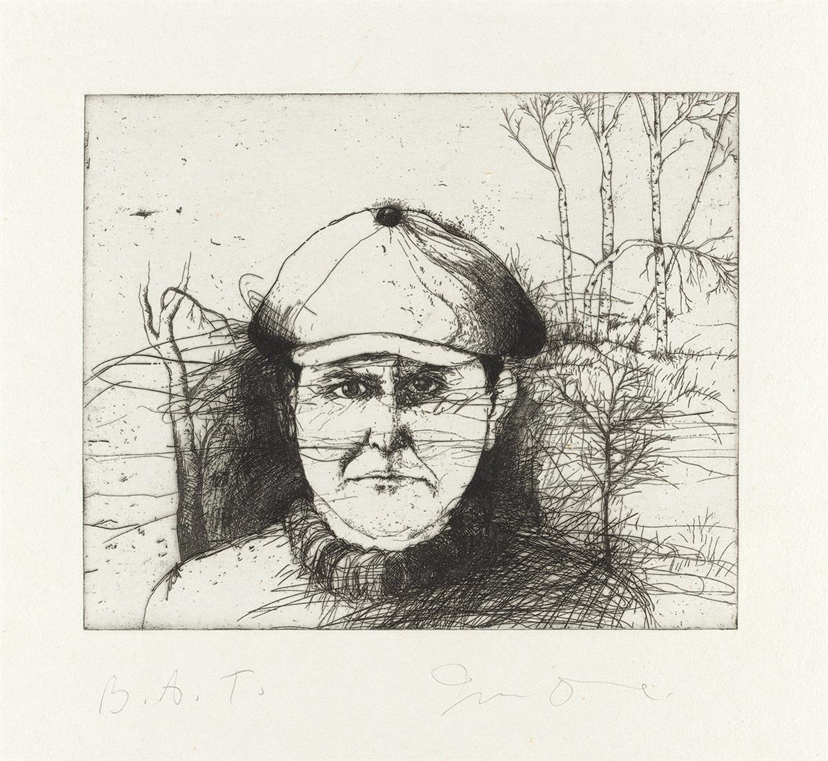 JIM-DINE-Self-Portrait-in-a-Flat-Cap