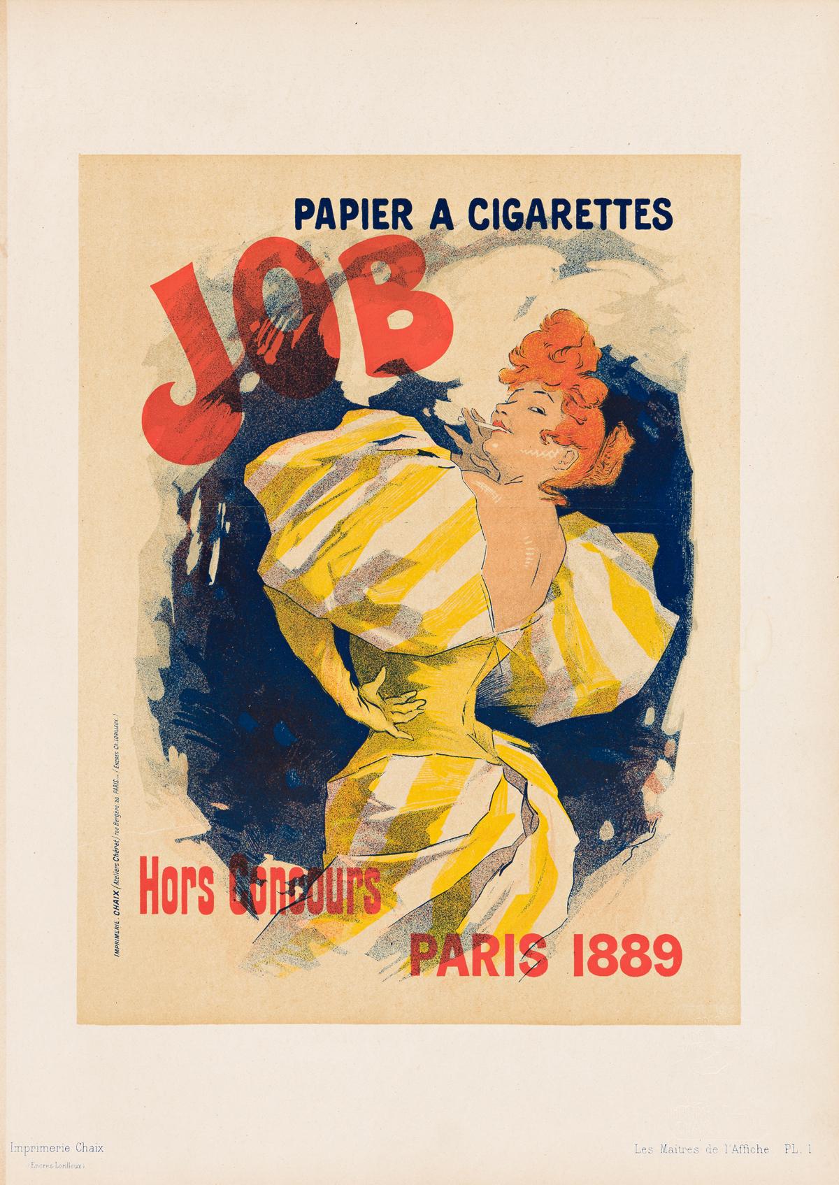 JULES CHÉRET (1836-1932).  [HALLE ET CHAPEAUX & MAITRES.] Group of 4 plates. 1896-1900. Each approximately 15x11 inches, 39x29 cm. Chai