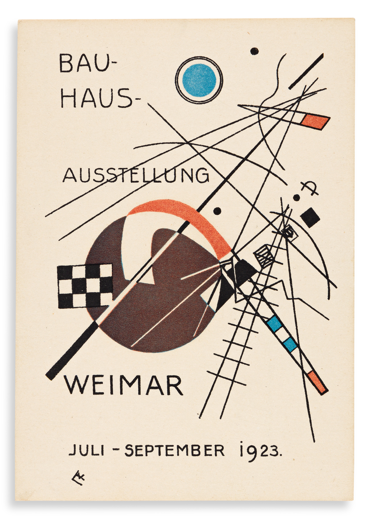 KANDINSKY, VASSILY. Bauhaus Ausstellung Juli - Sept. 1923 Weimar. [Weimar: Staatliches Bauhaus] 1923.