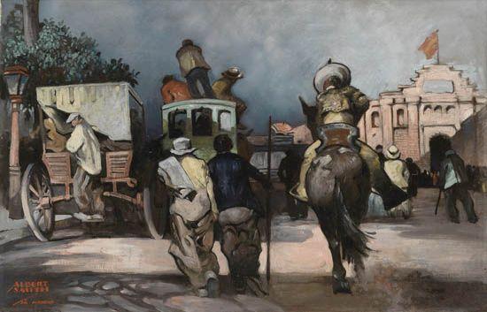 ALBERT ALEXANDER SMITH (1896 - 1940) Untitled (Madrid Street Scene).
