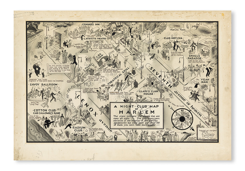 (MUSIC.) CAMPBELL, E. SIMMS. A Night-Club Map of Harlem.