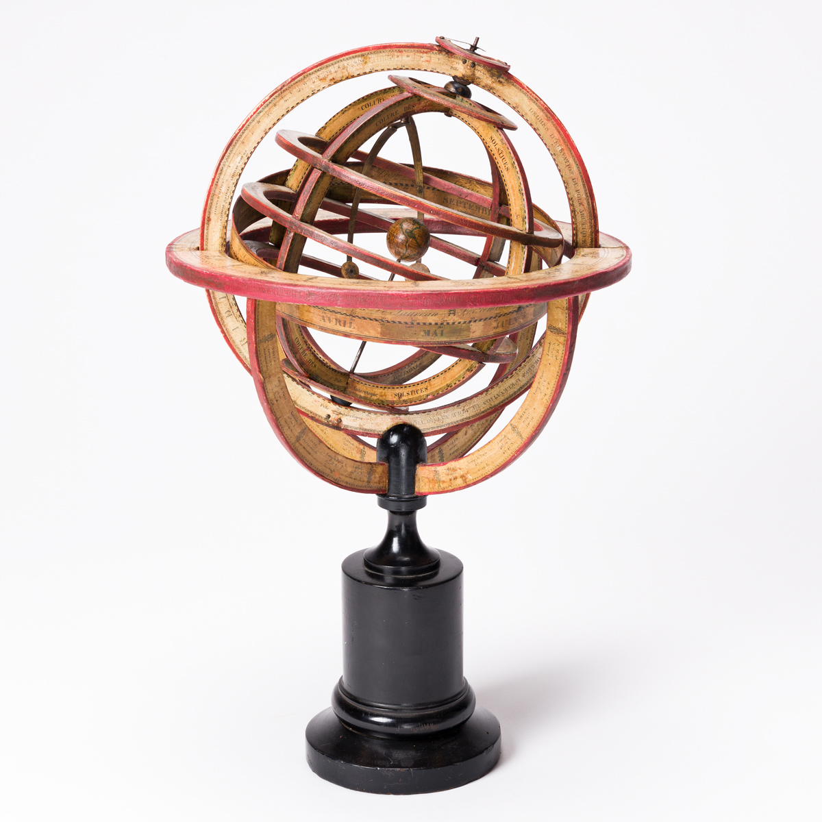 (GLOBES -- ARMILLARY SPHERE.) [Delamarche family]. [Ptolemaic armillary sphere.]