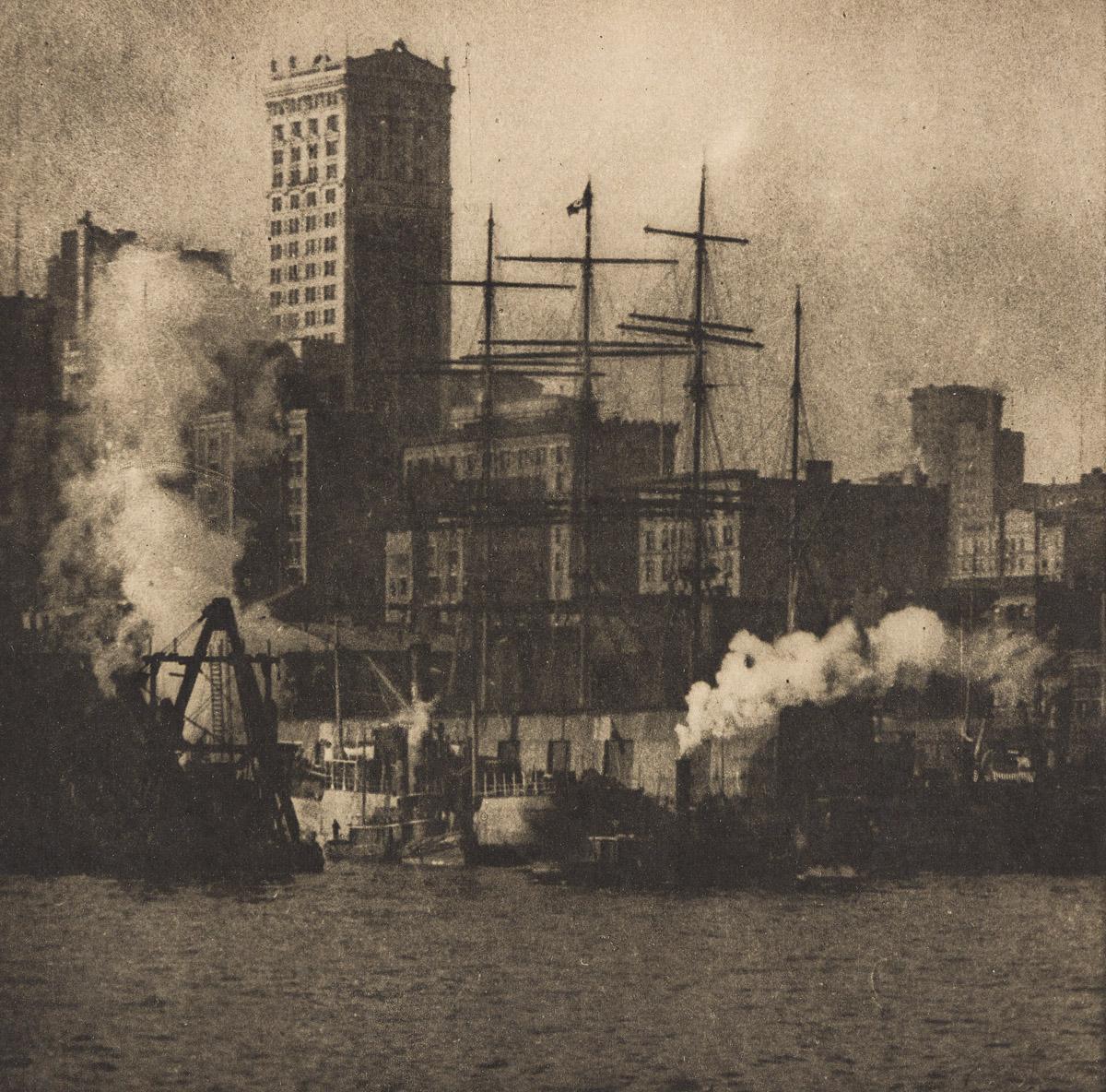 ALVIN LANGDON COBURN (1882-1996) The Unfinished Bridge * The Waterfront.