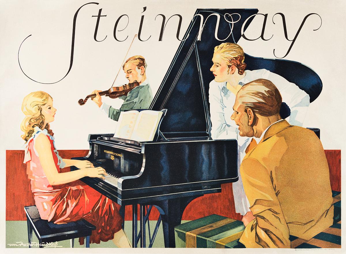 WERNER-HEUDTLASS-(1898-1949)--MARIA-VON-AXSTER-HEUDTLASS-(DATES-UNKNOWN)-STEINWAY-Circa-1925-23x31-inches-59x80-cm-Gustav-A-Schm