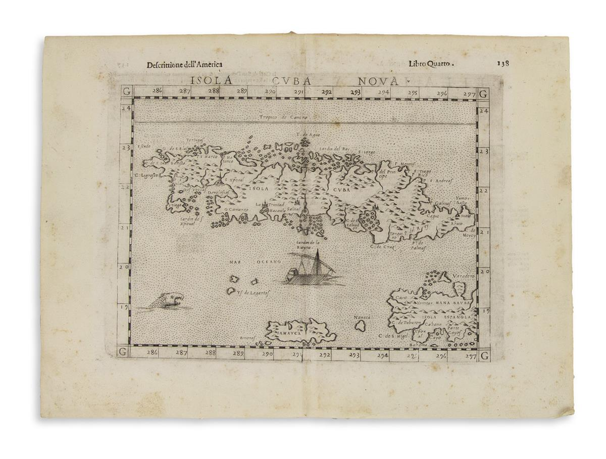 (CUBA)-Together-three-engraved-maps-of-Cuba