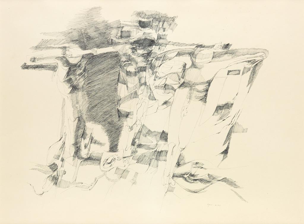 WILLIAM MAJORS (1930 - 1982) Crucifixion.