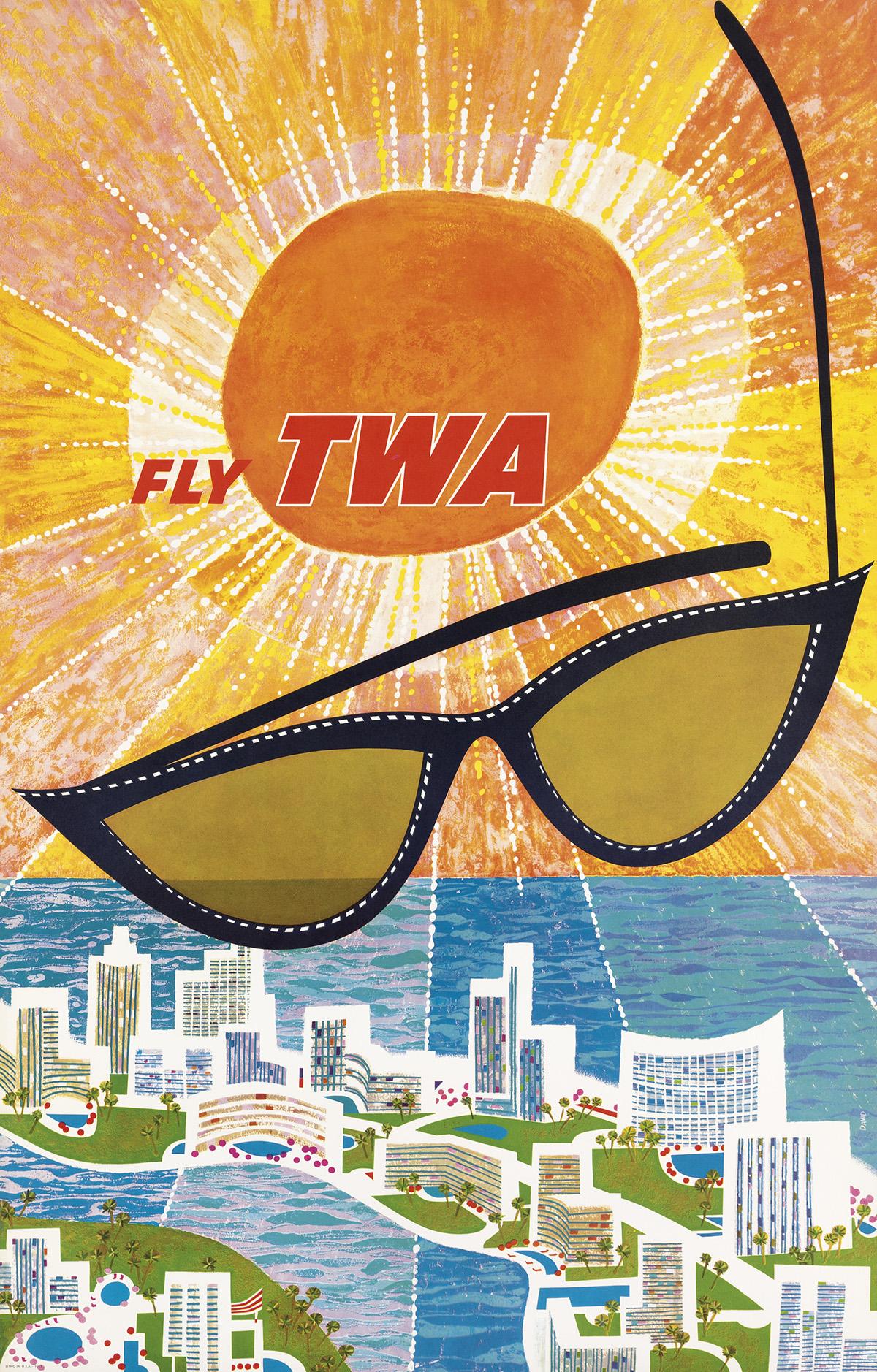 DAVID-KLEIN-(1918-2005)-FLY-TWA--[FLORIDA]-Circa-1960-39x25-