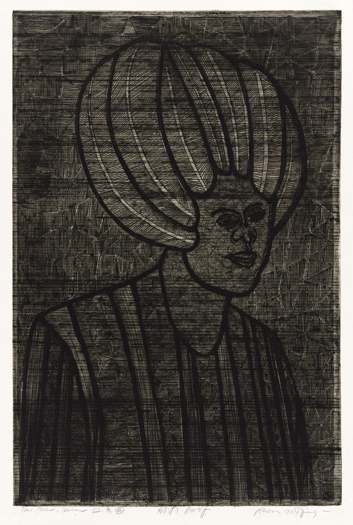 LEON N. HICKS (1933 - ) New Faces: Series VII #1A.