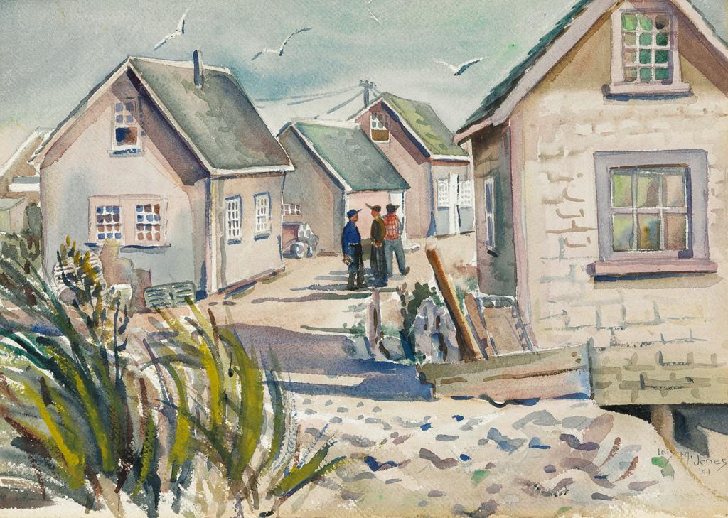 LOÏS MAILOU JONES (1905 - 1998) Fishing Shacks, Menemsha.