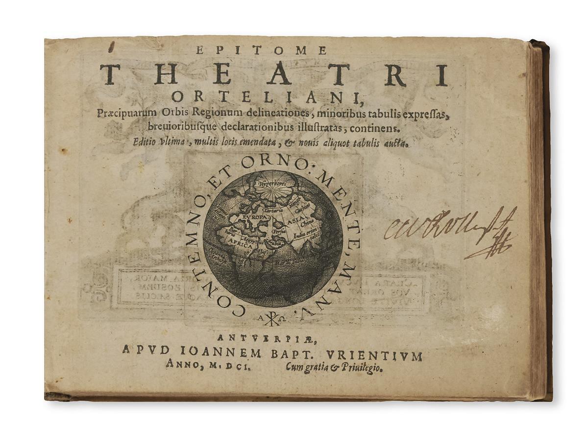 ORTELIUS, ABRAHAM. Epitome Theatri Orteliani,