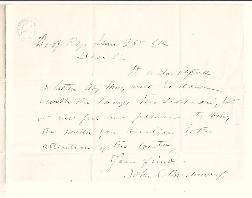 Civil-War-BRECKINRIDGE-JOHN-C-Autograph-Letter-Signed