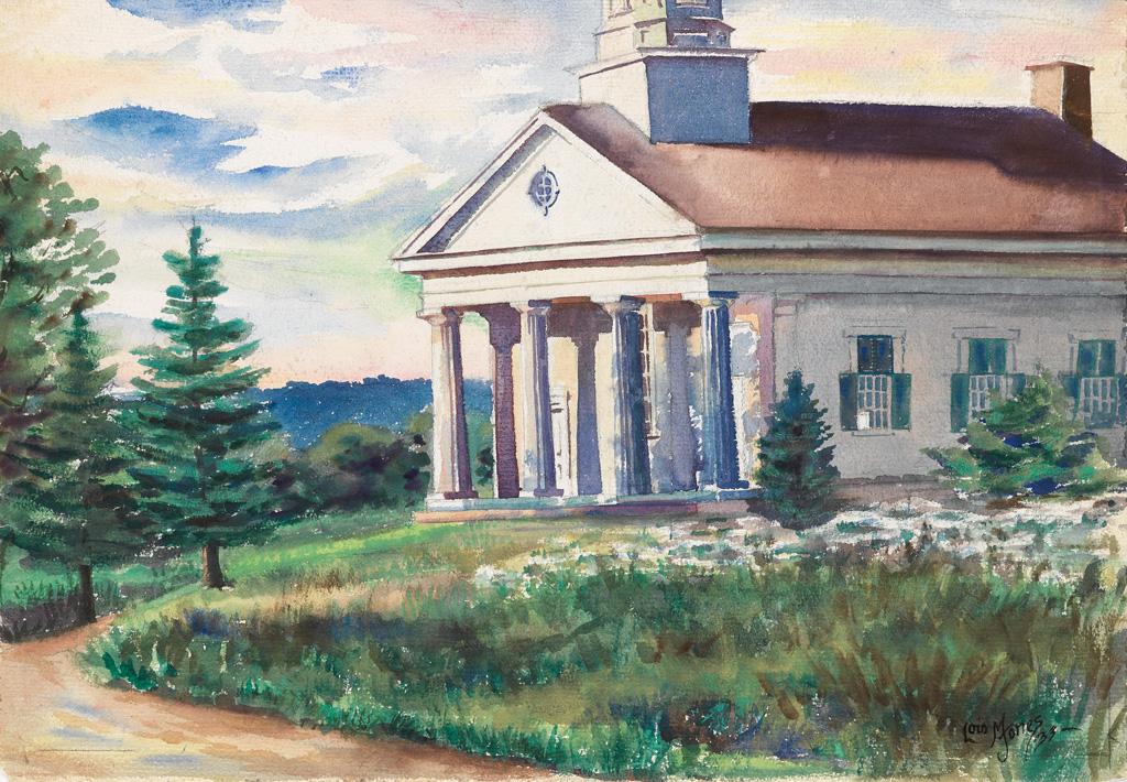 LOÏS MAILOU JONES (1905 - 1998) Untitled (Greek Revival Building).