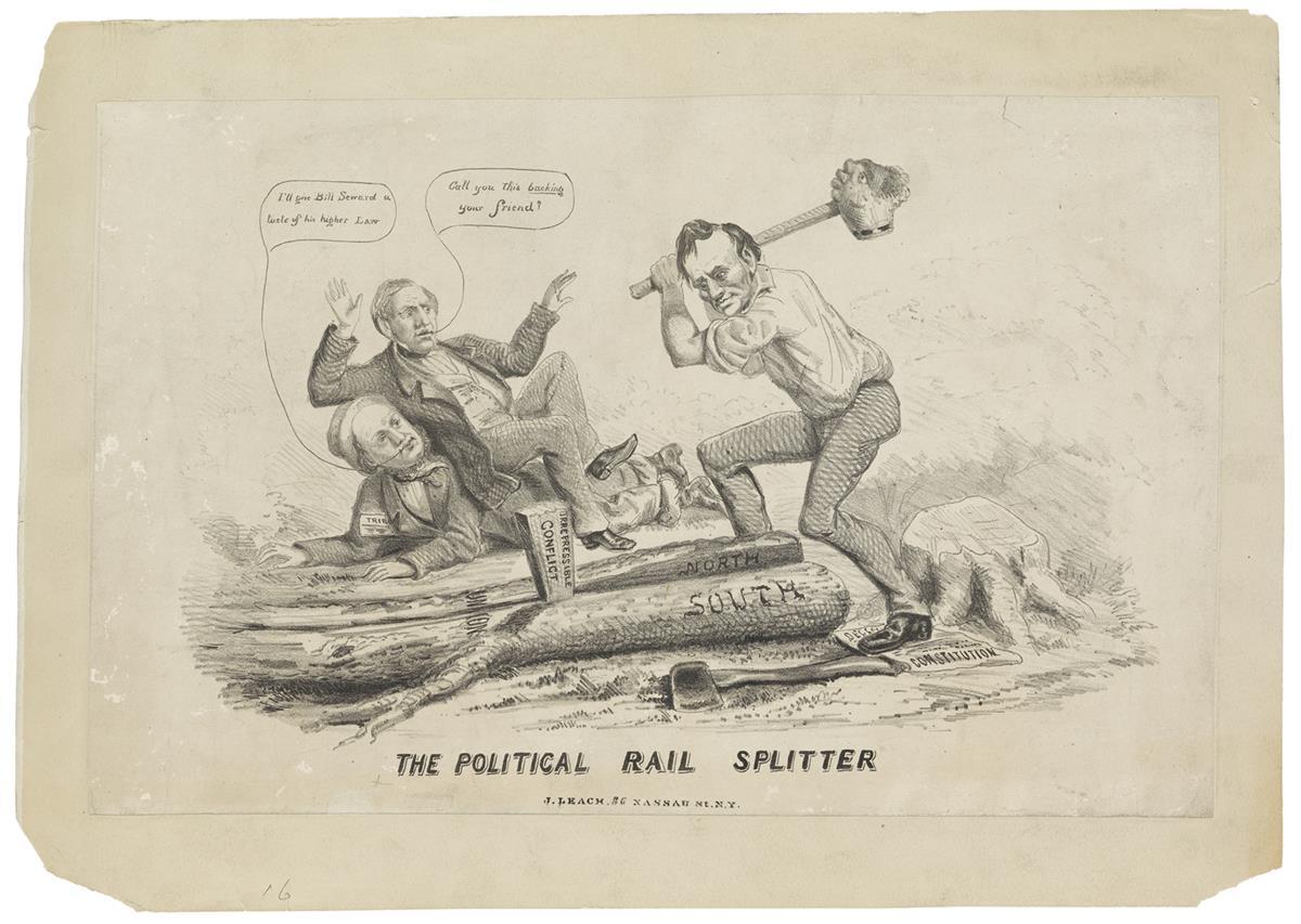 (PRINTS--CARTOONS)-The-Political-Rail-Splitter