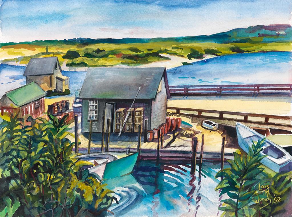 LOÏS MAILOU JONES (1905 - 1998) Untitled (Coastal Landscape).