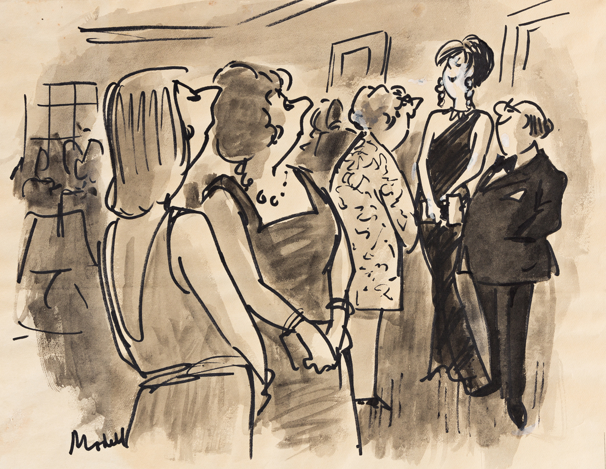 FRANK MODELL (1917-2016) Shes high fashion, and hes low comedy. [CARTOONS / NEW YORKER]