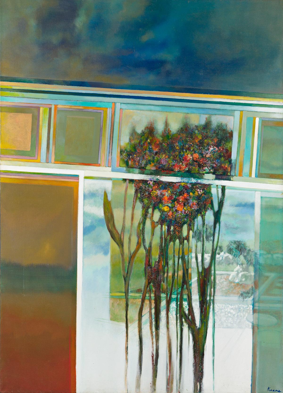 PAUL F. KEENE, JR. (1920 - 2009) Late Summer Studio Window.