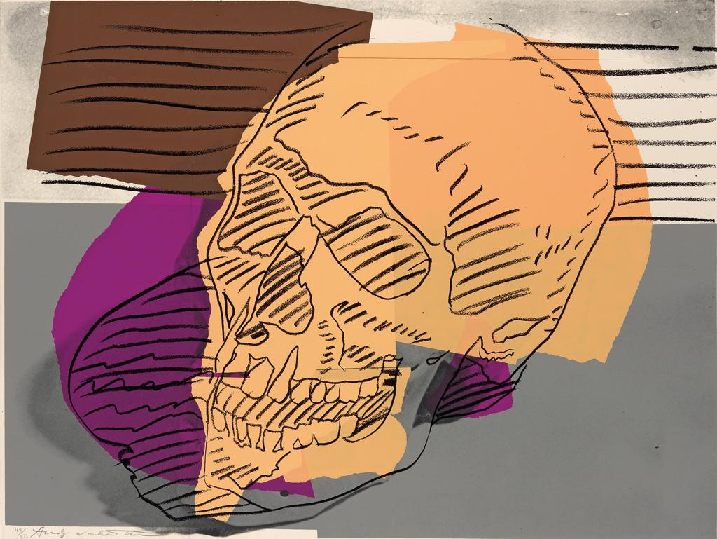 ANDY WARHOL Skulls.