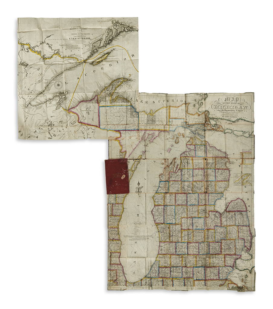 FARMER, JOHN. Map of the State of Michigan and the Surrounding Country.
