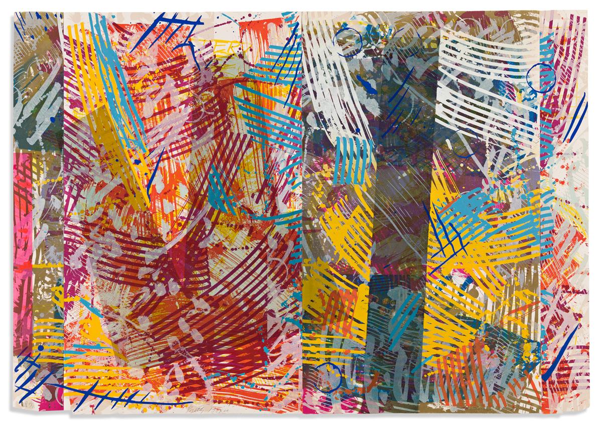 SAM GILLIAM (1933 - ) Pretty Boxes.