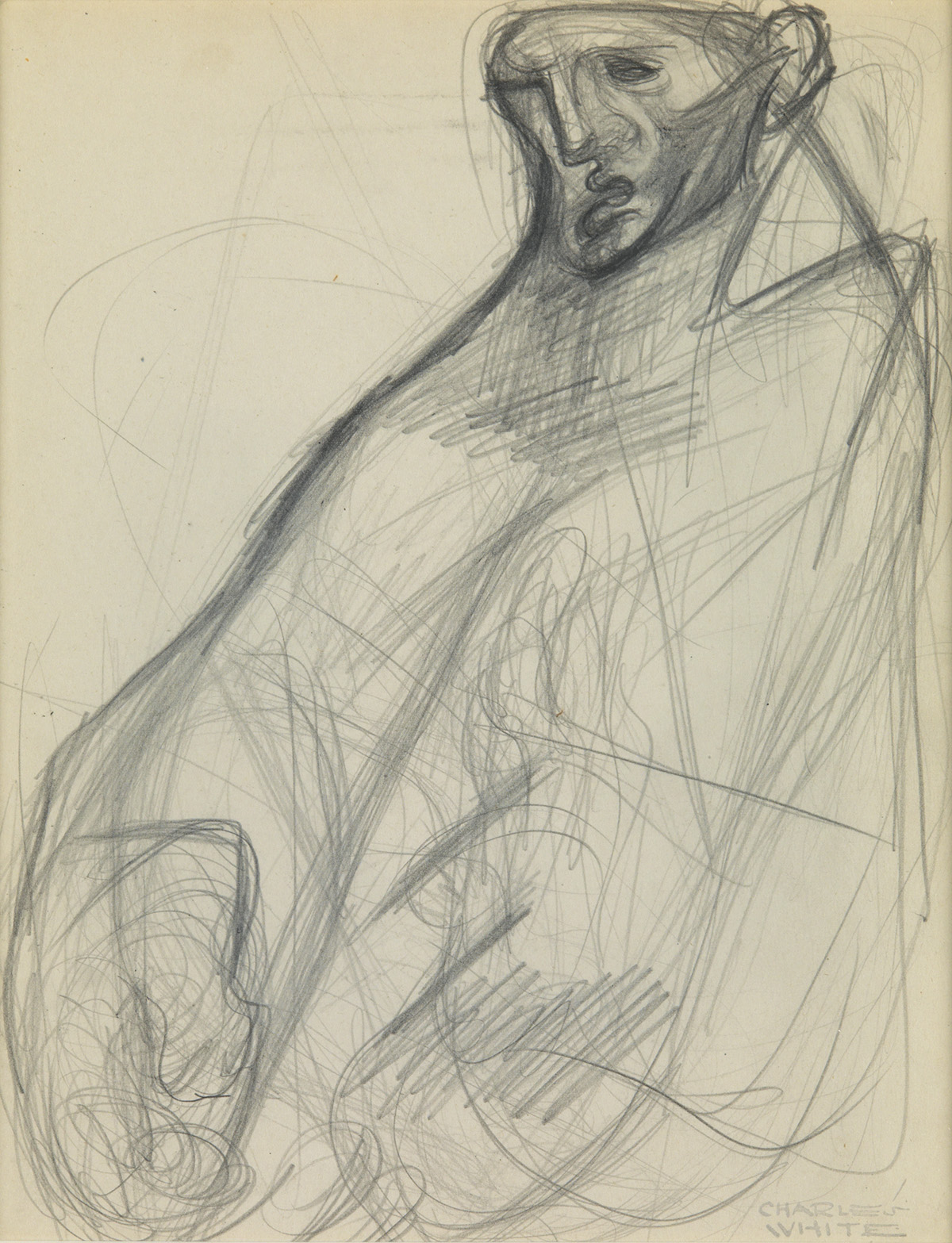CHARLES WHITE (1918 - 1979) Remembering (Study of a Man).