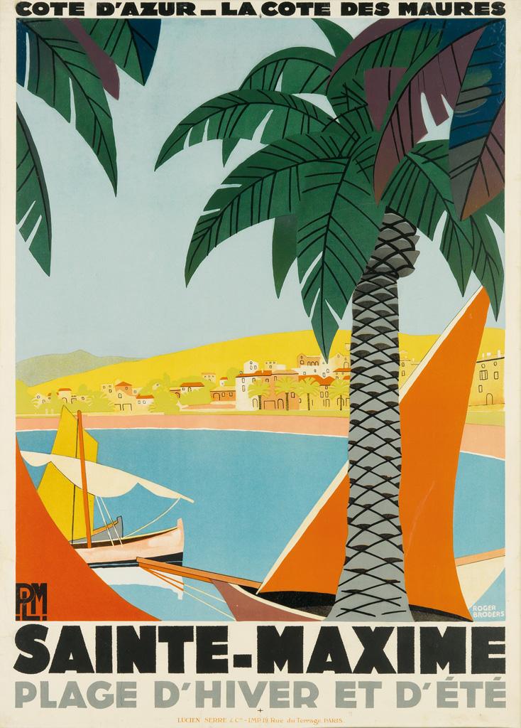 ROGER-BRODERS-(1883-1953)-SAINTE---MAXIME-1928-42x30-inches-106x78-cm-Lucien-Serre--Cie-Paris