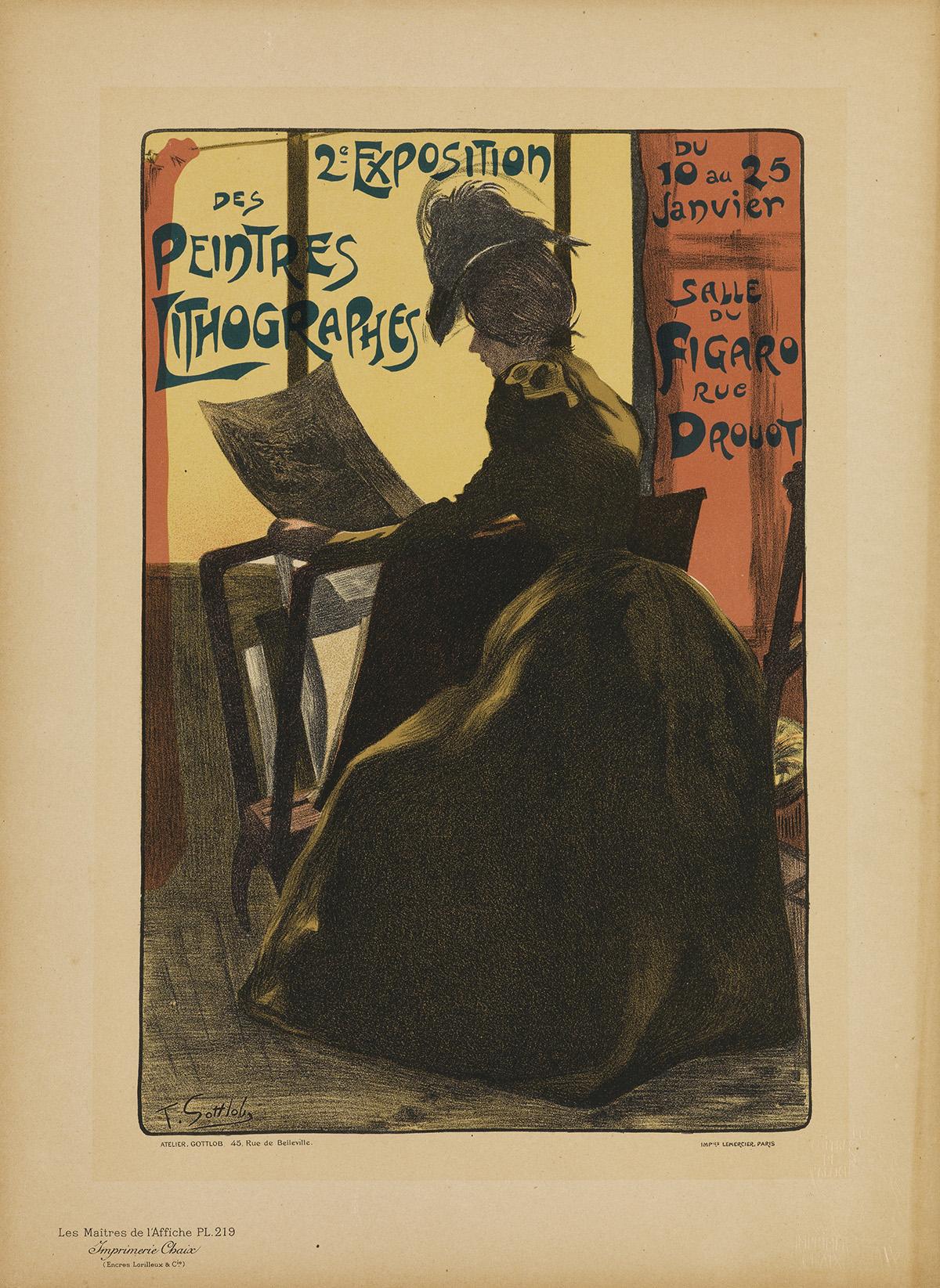 VARIOUS ARTISTS. LES MAÎTRES DE LAFFICHE. Group of 15 plates. 1896-1900. Each 15x11 inches, 39x29 cm. Chaix, Paris.