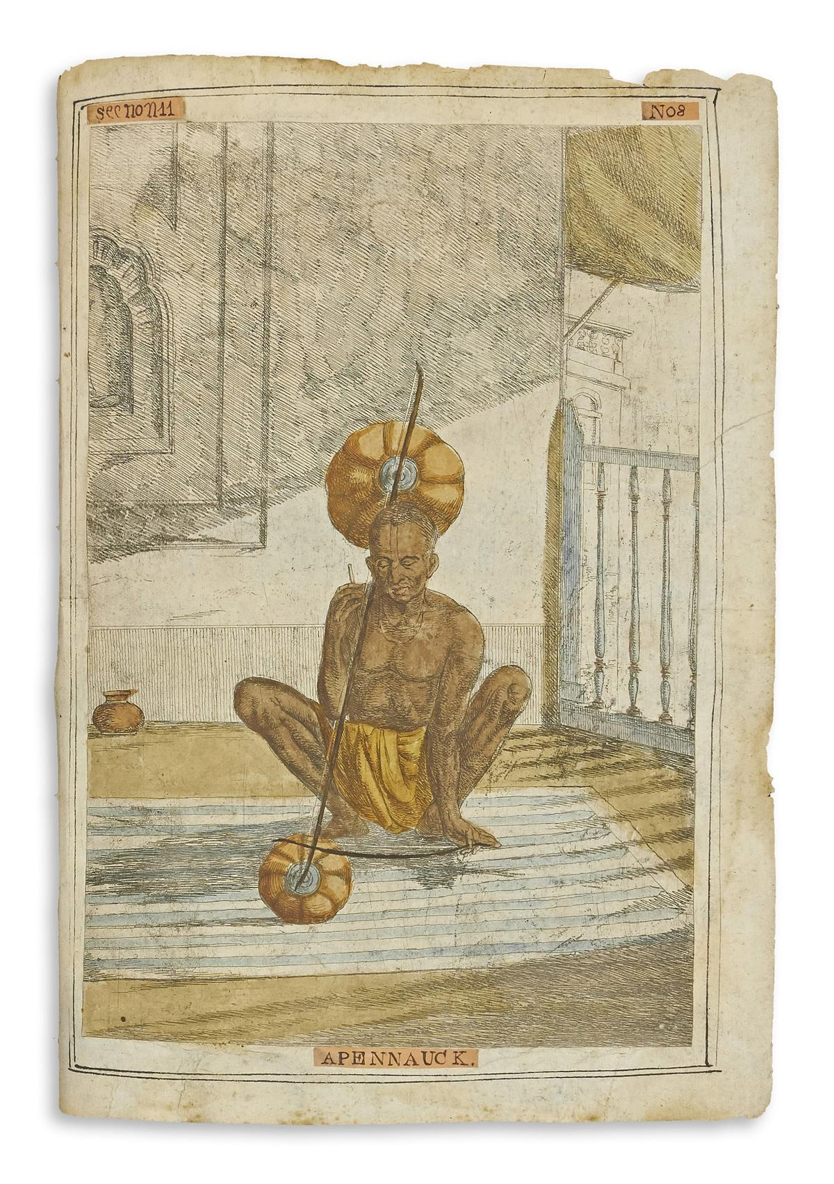 (INDIA.) Solvyns, Frans Balthazar. [A Collection of Two-Hundred and Fifty Colored Etchings Descriptive of the Manners,