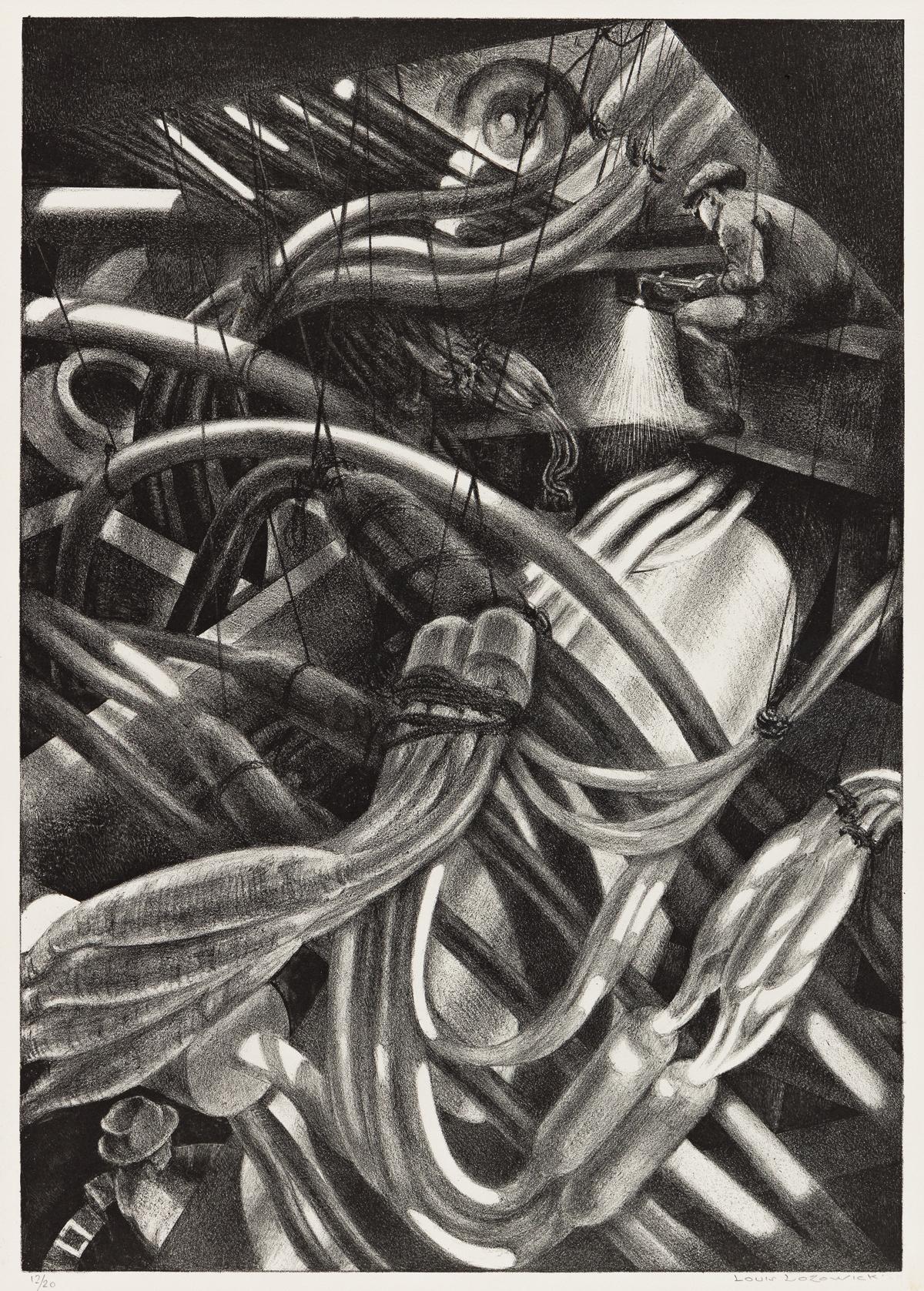 LOUIS LOZOWICK (1892-1973) Guts of Manhattan.