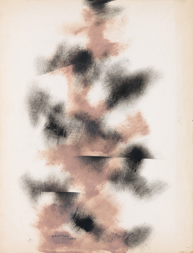NORMAN LEWIS (1909 - 1979) Untitled (Study in Black and Raw Sienna).
