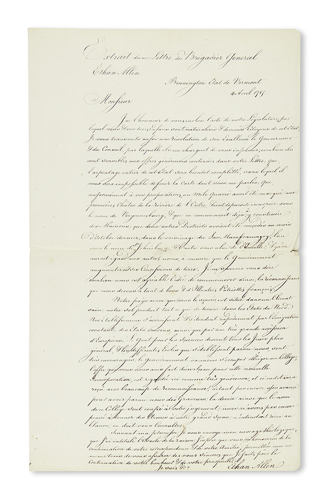 (VERMONT.) Group of Vermont manuscripts, including legal correspondence and political autographs.