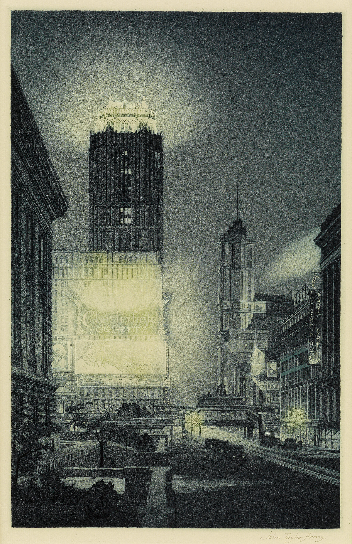 JOHN-TAYLOR-ARMS-West-Forty-Second-Street-Night