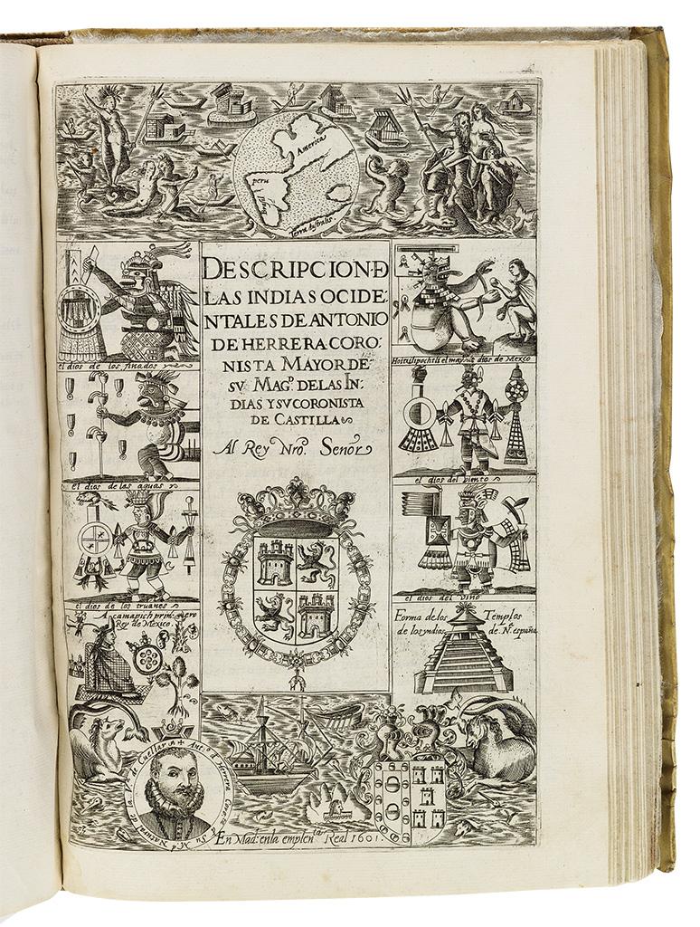 HERRERA, ANTONIO DE. Historia General de los Hechos de los Castellanos en las Islas i Tierra Firme del mar Oceano *