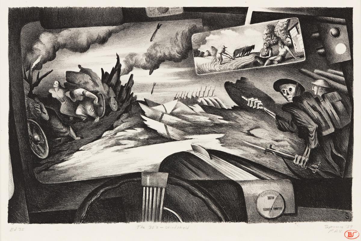 BENTON SPRUANCE (1904-1967) The 30s-Windshield.