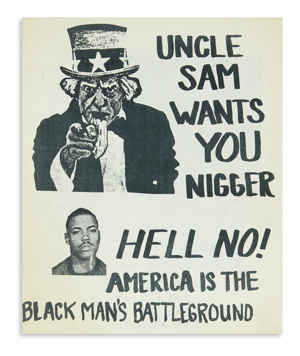 (BLACK PANTHERS.) Uncle Sam Wants You Nigger. Hell No! America is the Black Mans Battleground.
