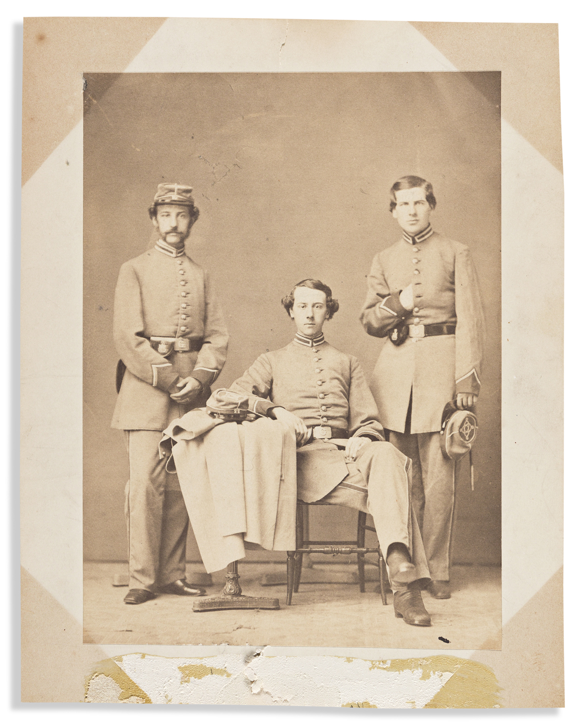 (CIVIL WAR--NEW YORK.) Portrait said to be the Hyde brothers of 22nd Regiment, New York National Guard.