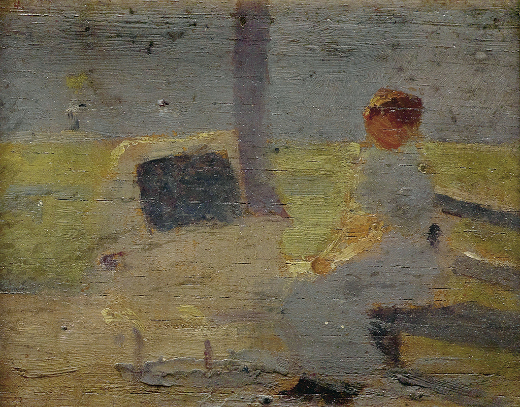 LENWOOD-H-MORRIS-Untitled-(Woman-Seated-on-a-Park-Bench-with