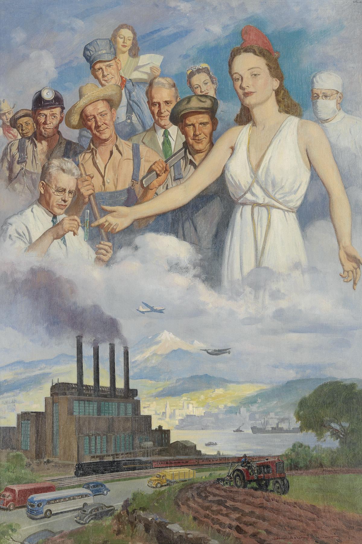 JOHN NEWTON HOWITT. (ADVERTISING / CALENDARS / INDUSTRY) The Spirit of Commerce.