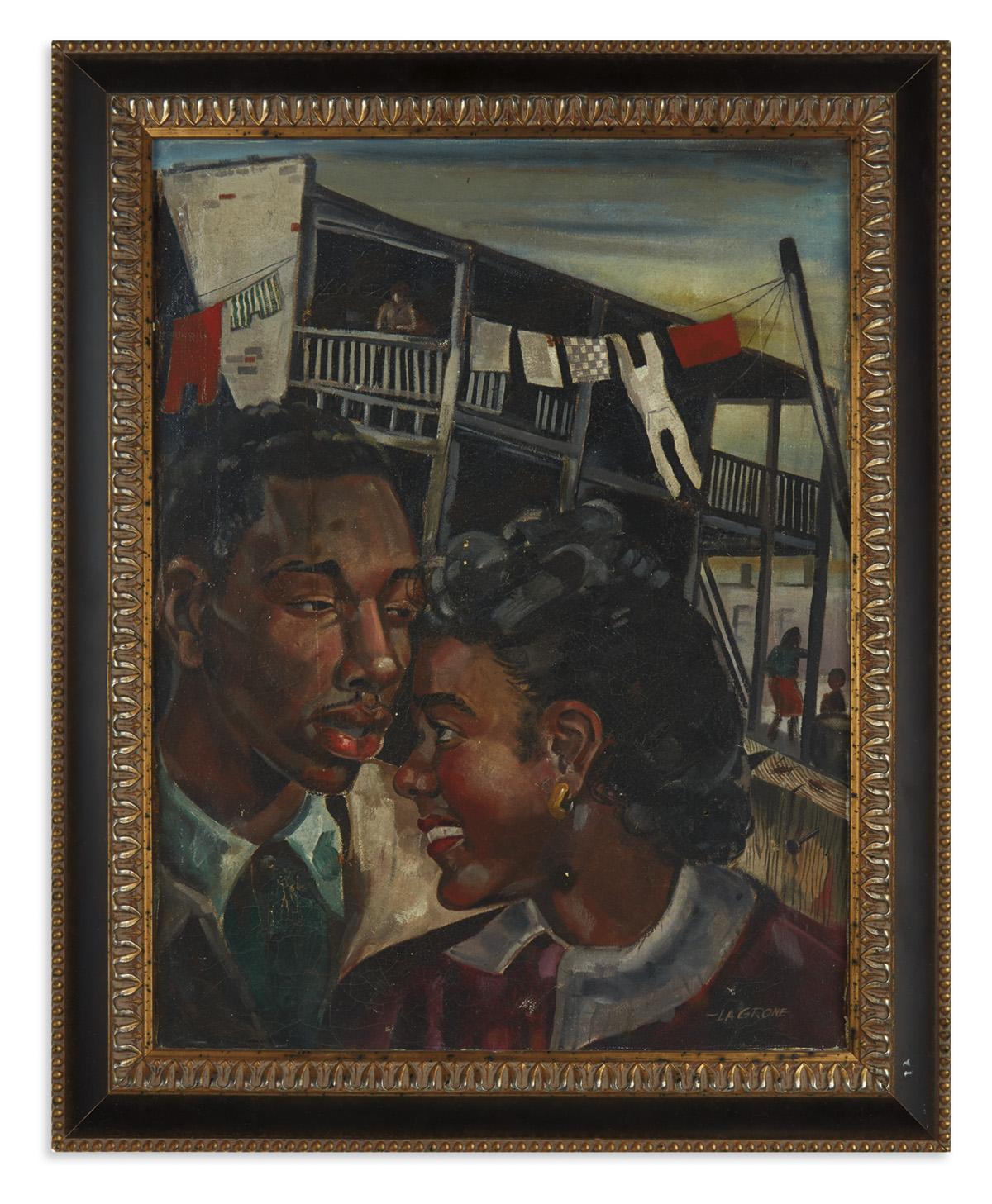(ART.) LaGrone, Roy. The Tenement Lovers.