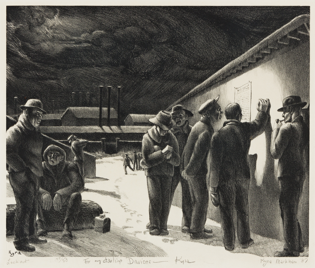 KYRA MARKHAM (1891-1967) Lockout.